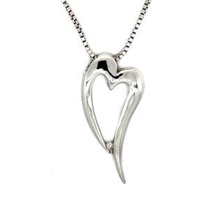 Colgante Corazón Plata y Brillante  585DP088  Hot Diamonds