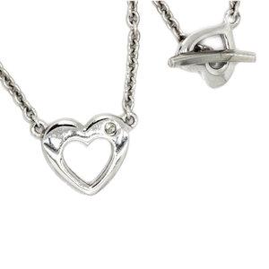 Colgante Corazón Plata y Brillante Cierre Corazón DN026904850  Hot Diamonds