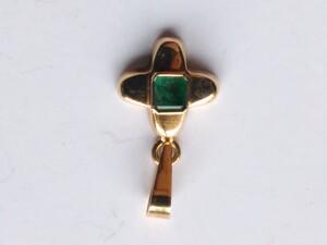 Colgante de Esmeralda y Oro 18 Ktes
