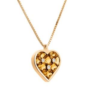 Colgante de oro, citrino y diamantes. CNP-0156/143 Oreage