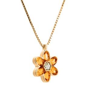 Colgante de oro, citrino y diamantes. CNP-0186/43 Oreage