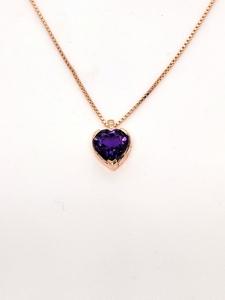 Colgante de oro rosa, amatista y diamantes. CNP-0281/227 Oreage