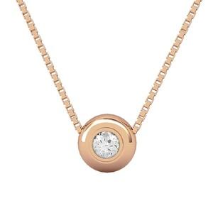 Colgante de oro rosa y diamante. CNP-0333/10 Oreage