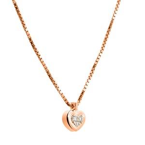 Colgante de oro rosa y diamantes. CNP-0279/209 Oreage