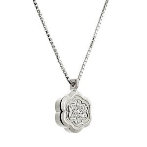 Colgante de plata con diamantes. CNP-0203/75 Oreage