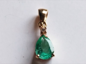 Colgante Esmeralda -brillante Oro 1ª Ley