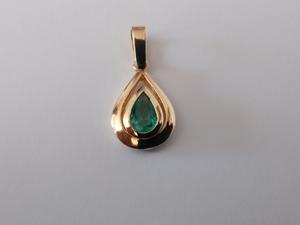 Colgante Esmeralda Oro 750/000