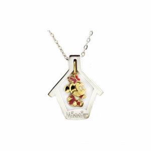 Colgante Minnie Disney Casa Desmontable Oro 18k macizo y plata FDB-652 Finor