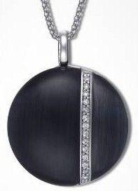 Colgante Plata Time Force Negro 120301