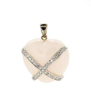 Colgante Stradda plata corazón  15H98R