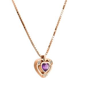 Colgante,Oro Rosa vermeil Amatista,Diamantes Oreage