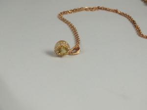 Collar Colgante Amura con cuarzo fume y zirconita ARBW004P