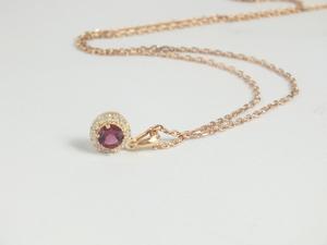 Collar Colgante Amura con cuarzo rosa y zirconita ARBW003P