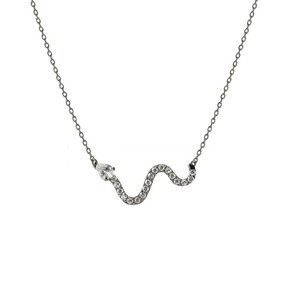 Collar Colgante Saber plata negra y circonita Luxenter PT042BK00
