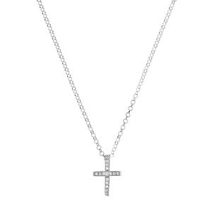 Collar Cruz Zirconium 8435445309524 Lua Blanca