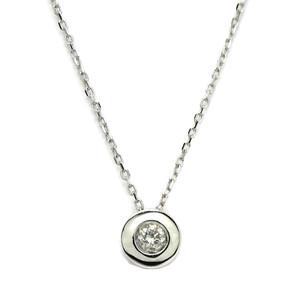 Collar con un diamante de 0.08cts y oro blanco de 18Ktes. 40cm Never say never