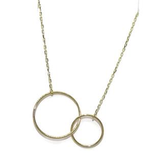 Collar de Oro Amarillo de 18k con 2 Círculos Siempre Unidos Un Clásico reinventado. Never say never