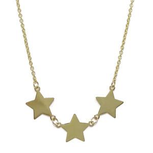 Collar de oro amarillo de 18k con 3 estrellas de 1.00cm de diámetro. 40-45cm Never say never