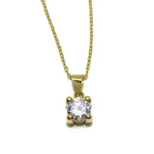 Collar de oro amarillo de 18Ktes con circonita  Never say never