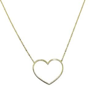 Collar de oro amarillo de 18Ktes con súper corazón. 42cm Never say never