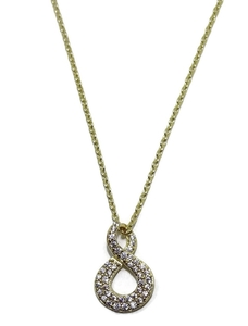 Collar de oro amarillo de 18ktes  Never say never