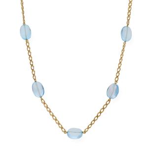 Collar de oro amarillo de 750 milésimas/18 kt formado por 5 blue topaz 1501/0292G-ATA3