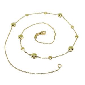Collar de Pepitas de Oro de 18k de 45cm de Largo y con 11 Pepitas de 6 y 4mm de diámetro.  Never say never