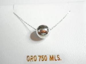 Collar GARGANTILLA DE ORO BLANCO CON BOLA - Propia - 3831/45B