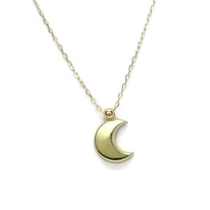 Colgante Luna con Cadena Todo en Oro Amarillo de 18k. 45cm Never say never