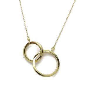 Collar de Oro con 2 círculos Siempre Unidos Un clásico reinventado. con Cadena miniforzada Never say never