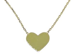 Collar de oro amarillo de 18Ktes con corazon plano.45cm Never say never
