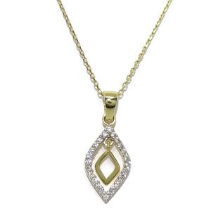 Collar de oro amarillo y oro blanco de 18Ktes con circonitas. 45cm Never say never