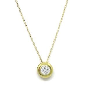 Collar oro amarillo de 18Ktes y circulo de 6.5mm y circonita. Never say never