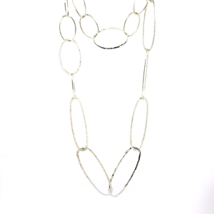 Collar óvalos plata  15H18-1 Stradda