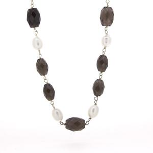 Collar plata  piedras y perlas  15SR-4 Stradda