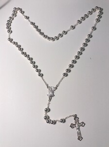 Collar ROSARIO PLATA - Propia - 3040-50cmt