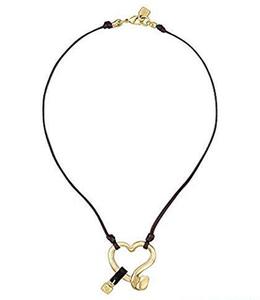 Collar Uno de 50 corazón dorado COL0948