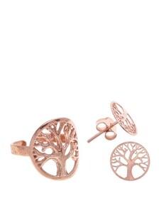 Combinado SET Árbol de la Vida pink silver 8435402117285 Lua Blanca