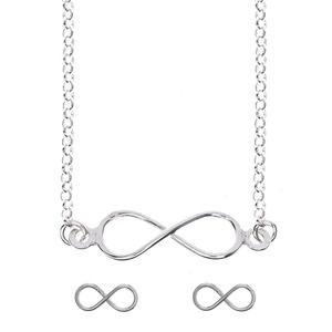 Combinado set Infinito silver 8435402151043 Lua Blanca