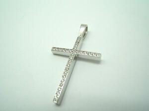 Collar Cruz Oro blanco y diamantes C-187 B-79