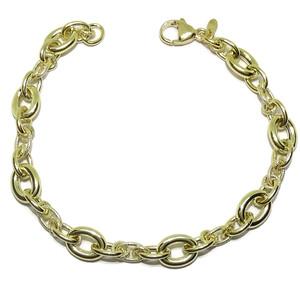 Espectacular Pulsera de Oro Amarillo de 18k para Mujer de 19,5cm de Largo por 0.8cm Never say never