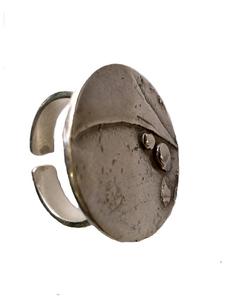 Anillo en plata abierto e amoldable. Medida contorno dedo ajustable del nº 15 al nº20 FP A22-P Fili Plaza