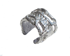 Anillo en plata abierto e amoldable. Medida contorno dedo ajustable del nº9 al nº15 FP A18-P Fili Plaza