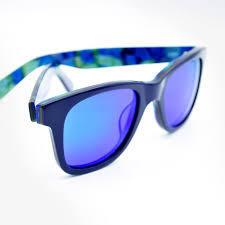 Gafas de sol Gafas Skull Rider Acetate Sunglass Blue Vertigo 10010000107