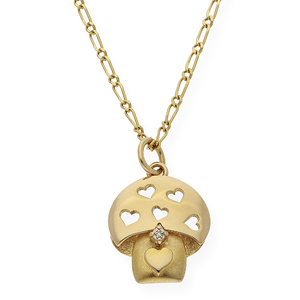 Gargantilla con colgante en forma de seta realizado en oro amarillo de 750 milésimas  DSC70003