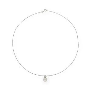 Gargantilla con Collar - Diamante talla de brillante de 0,05 kts - Longitud 42cm (aprox)