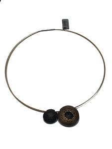 Collar Gargantilla de plata con colgante de oro y plata