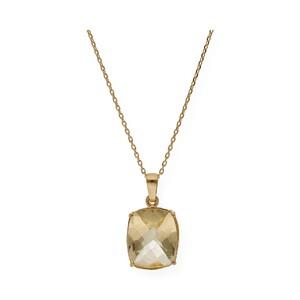 Gargantilla realizada en oro amarillo de 750 milésimas (18kt) con Collar de cuarzo citrino de 11,70mm x 9,60mm, longitud de la cadena 42cm.