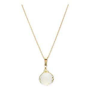 Gargantilla realizada en oro amarillo de 750 milésimas (18kt) con Collar de citrino en forma de pera, longitud de la cadena 42 cm