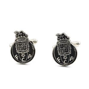 Gemelos con motivo del Oporto realizado en plata labrada 925/1000 escudo del equipo.